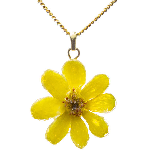 Zinnia Pendant - Yellow