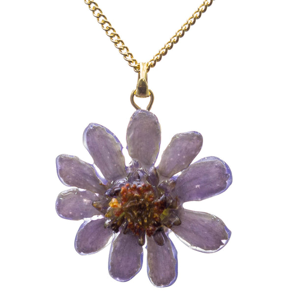 Zinnia Pendant - Purple