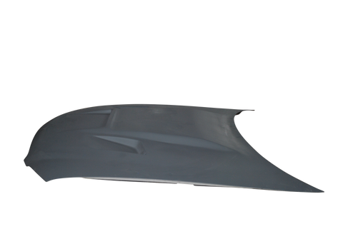 BA steel bonnet with BA Bulge with Slits and Vents Moulded