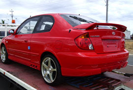 Accent LC Hatch Rear Wing suits Hyundai