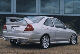 CE Coupe / CEII Sedan Lancer Rear Skirt Suits Mitsubishi R/T Extreme Bodykit Centre Exhaust
