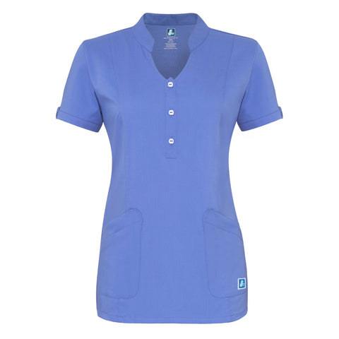 Adar Indulgenc Jr. Fit Womens Keyhole Top, Medical Uniform Tops,- superuniforms.com