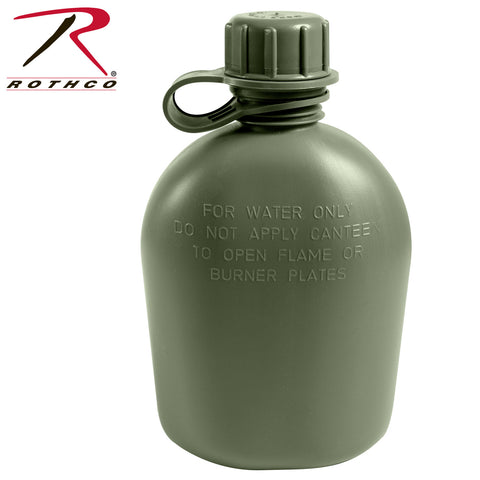 Genuine G.I. 3 Piece 1 Quart Plastic Canteen, Canteens,- superuniforms.com