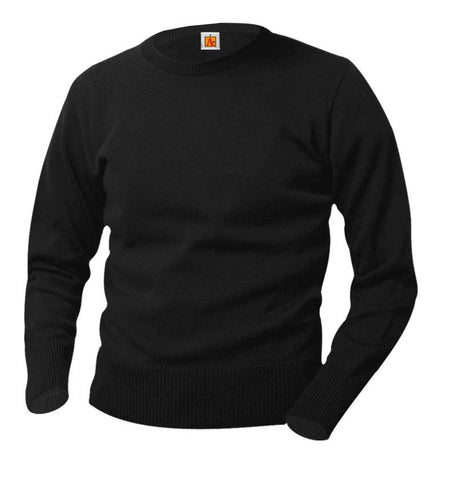 Classic Crew Neck Long Sleeve Pullover Sweater, Sweaters,- superuniforms.com