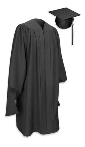 Masters Gown with mortarboard