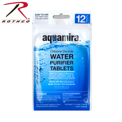 Aquamira Water Purification Tablets, Water Purification,- superuniforms.com