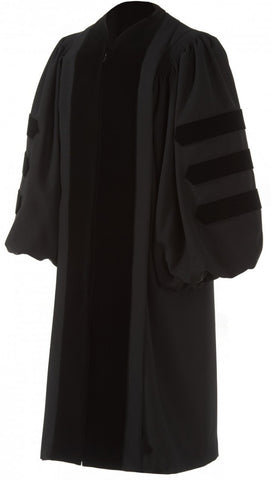 Deluxe Doctoral Robe w/ Velvet Options