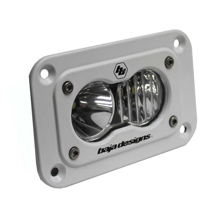 S2 Pro, LED Driving/Combo, Flush Mount, White