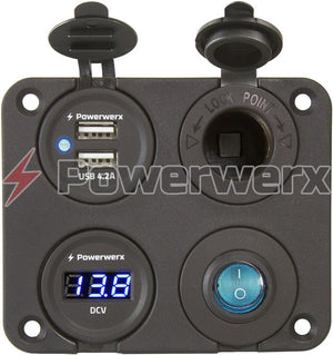 Powerwerx - Four Hole Square Panel Mounting Plate
