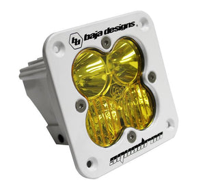 Squadron Sport, White, Flush Mount LED Driving/Combo, Amber