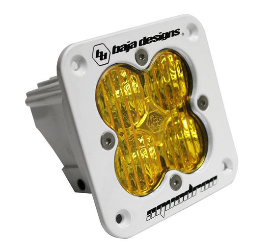 Squadron Sport, White, Flush Mount, LED Wide Cornering,Amber