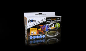 Hard Korr 4FT Orange and White Easy Fit Light