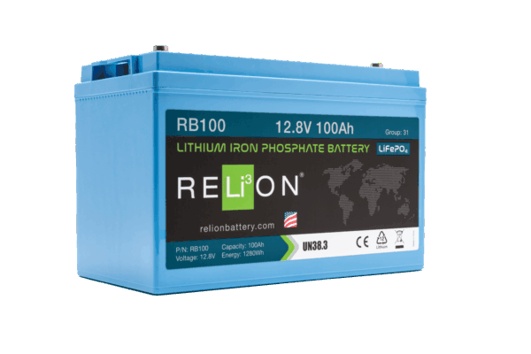 Relion Lithium 12V 100Ah Battery RB100