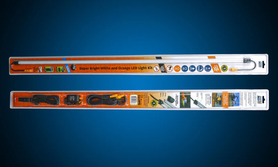 Hard Korr 39″ ORANGE/WHITE LED LIGHT BAR KIT