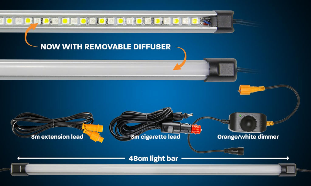Hard Korr 19″ ORANGE/WHITE LED LIGHT BAR KIT