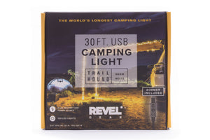 Revel Gear Trail Hound 30ft Camping Light Soft (warm) White with Dimmer