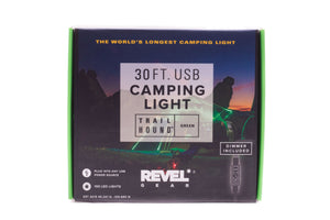 Revel Gear Trail Hound 30ft Camping Light Green with Dimmer