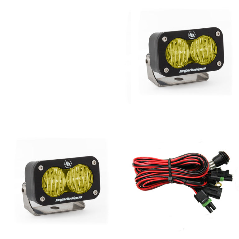 S2 Sport, Pair Wide Cornering, LED, Amber