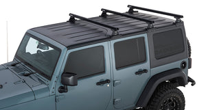Rhino Rack Jeep JKU Heavy Duty RLT600 Black 3 Bar Backbone 2007 - 2018