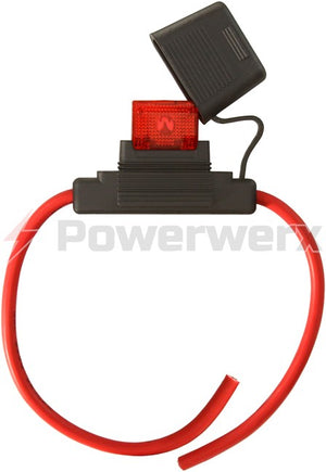 Powerwerx - Maxi Style Inline Fuse Holder (Gauge: 8, Color: Red)