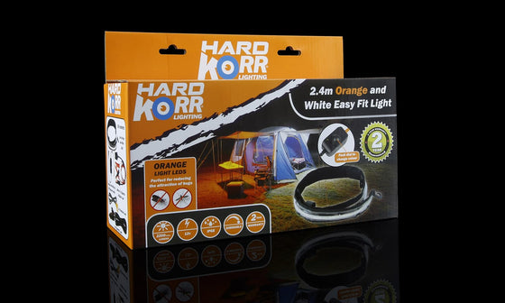 Hard Korr 8FT ORANGE AND WHITE EASY FIT LIGHT