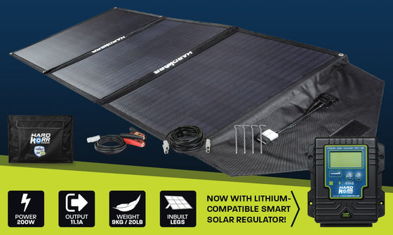 Hard Korr 150W HEAVY DUTY PORTABLE SOLAR PANELS WITH CROCSKIN® CELL ARMOUR