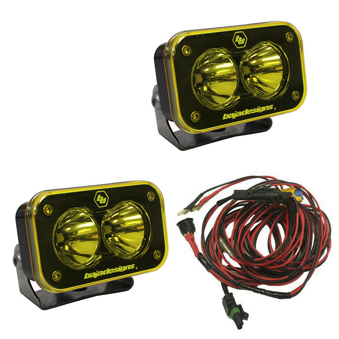 S2 Racer Edition, Amber, Pair Spot LED