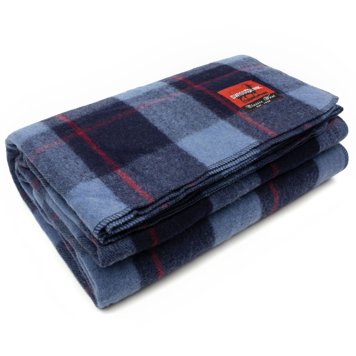 Swiss Link Classic Wool Plaid Blanket