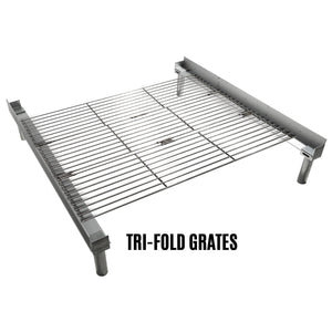 Fireside Outdoor Pop-Up Fire Pit Tri-Fold Grill Grate