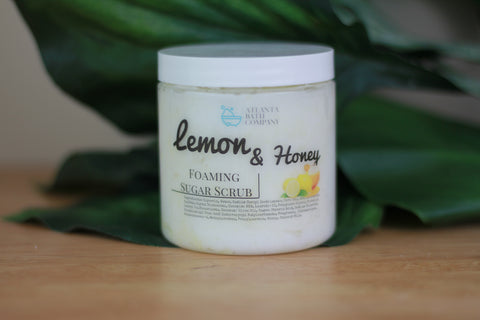Lemon and Honey Sugar Scrub