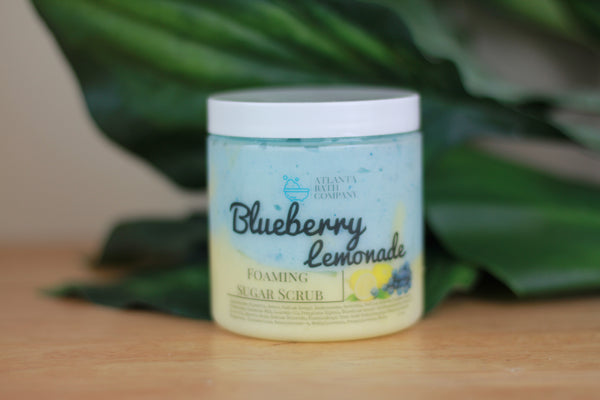 Blueberry Lemonade Foaming Sugar Scrub