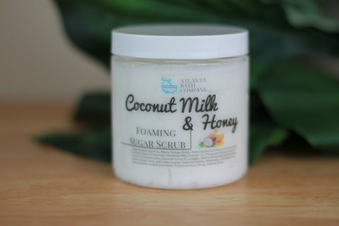 Coconut Milk & Honey Sugar Scrub