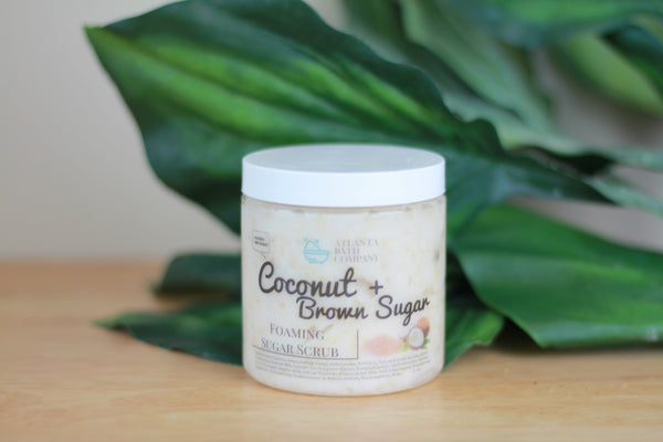 Coconut + Brown Whipped Sugar Scrub