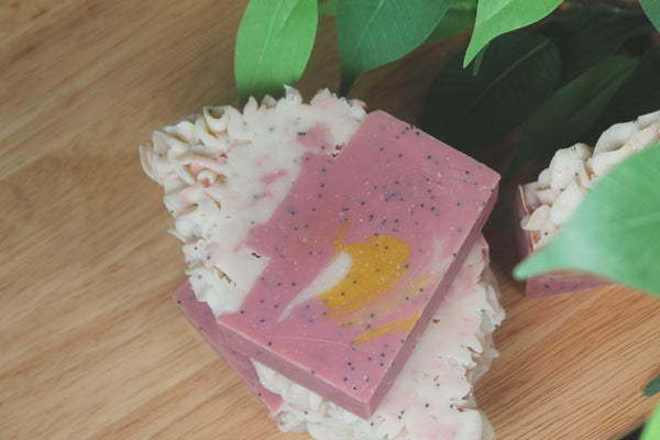 Strawberry Banana Smoothie Soap
