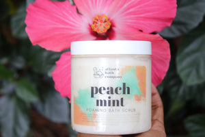 Peach Mint Sugar Scrub