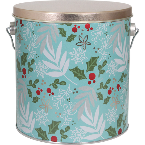 Winter Charm - 1 Gallon Popcorn Tin