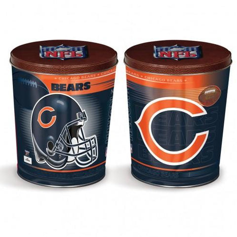 Chicago Bears - 3 Gallon Popcorn Tin - Gourmet Popcorn