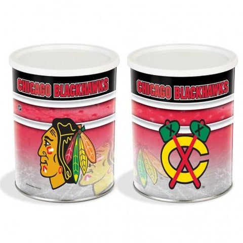 Chicago Blackhawks - 1 Gallon Popcorn Tin - Gourmet Popcorn
