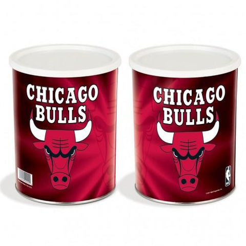 Chicago Bulls - 1 Gallon Popcorn Tin - Gourmet Popcorn