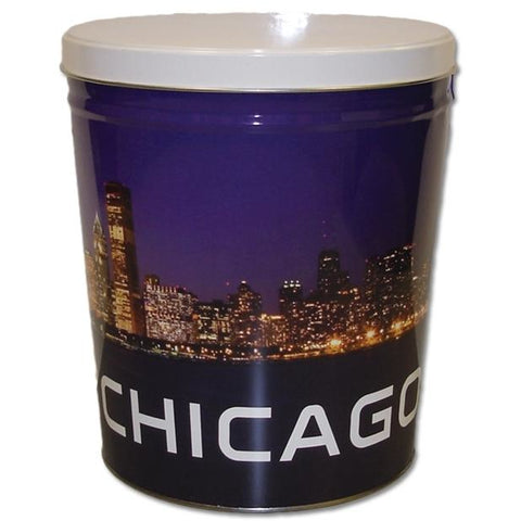Chicago Skyline - 3 Gallon Popcorn Tin - Gourmet Popcorn