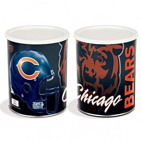 Chicago Bears - 1 Gallon Popcorn Tin - Gourmet Popcorn
