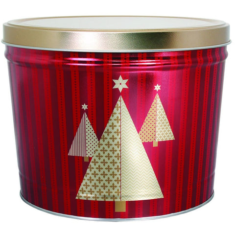 Christmas Tree - 2 Gallon Popcorn Tin - Gourmet Popcorn
