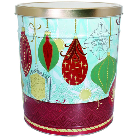 Contemporary Ornaments - 3 Gallon Popcorn Tin - Gourmet Popcorn