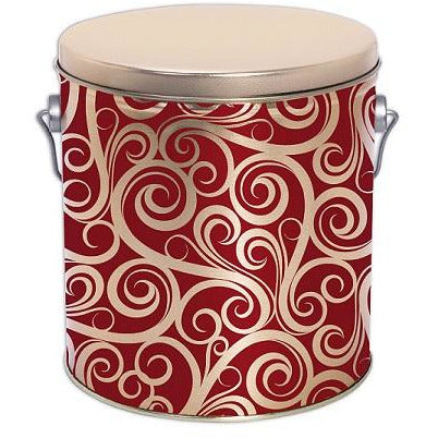 Golden Swirls - 1 Gallon Popcorn Tin