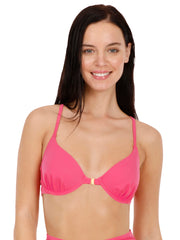 Front Closure Racerback Bikini Top - Fandango Pink Color