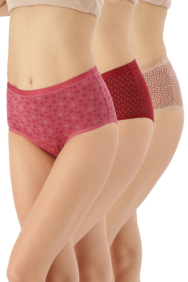 Full Brief Printed Panty (Pack of 3) - AssortedColor