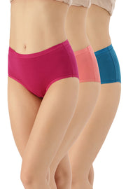 Solid Full Brief Panty (Pack of 3)