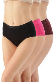 Full Brief Solid Panty (Pack of 3) - AssortedColor