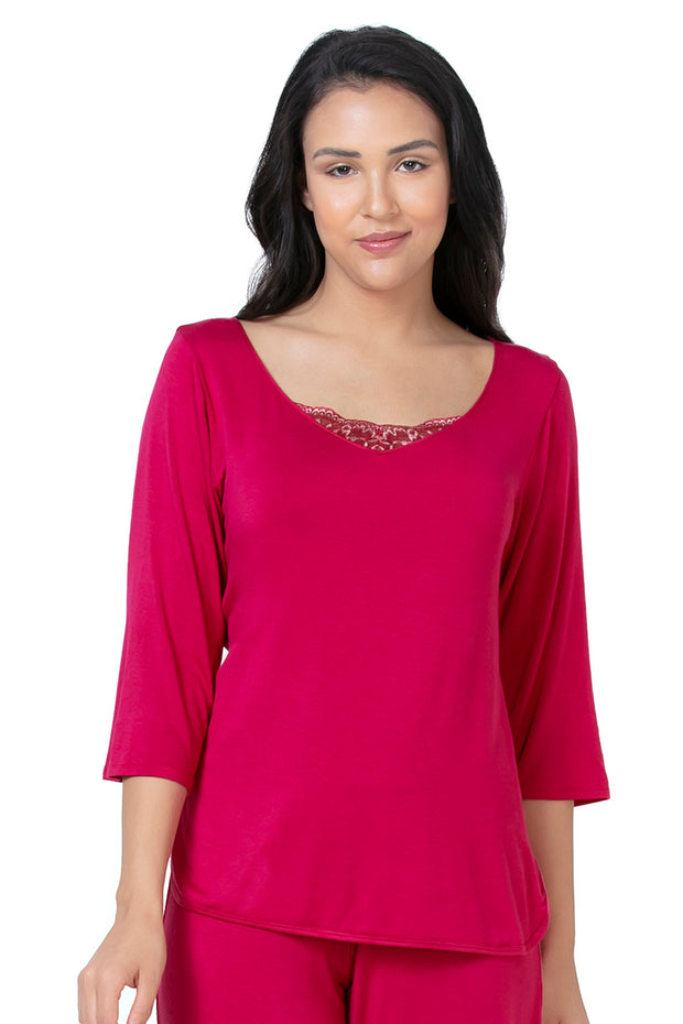 Lace Touch Sleep Top - Granita Color