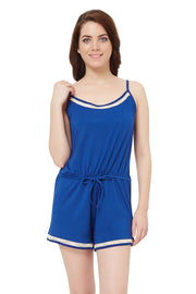 Sensuous Touch romper - Navy Peony Color
